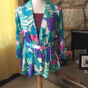 VTG Cole of California 1960's Floral Bell Sleeve